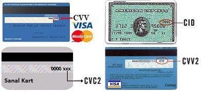 cvv 2 nedir, hangi kartlarda bulunur