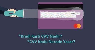 CVV nedir resimli anlatım