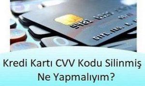 kredi kartı cvv nerde yazar