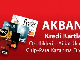 Akbank kredi kartları